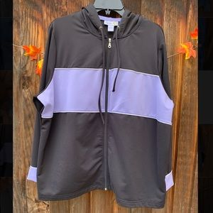 Style&Co plus size black and lilac Active Jacket